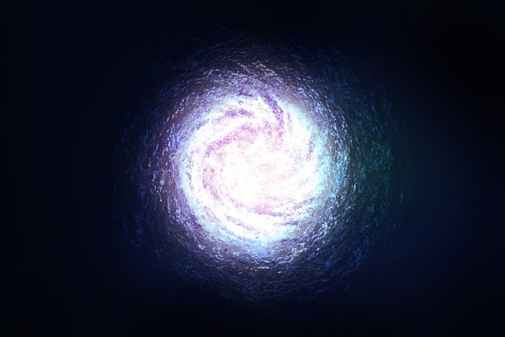 Galaxy/Portal - Artwork - This digital artwork shows a galaxy-like shape formed into an orb of some sort.