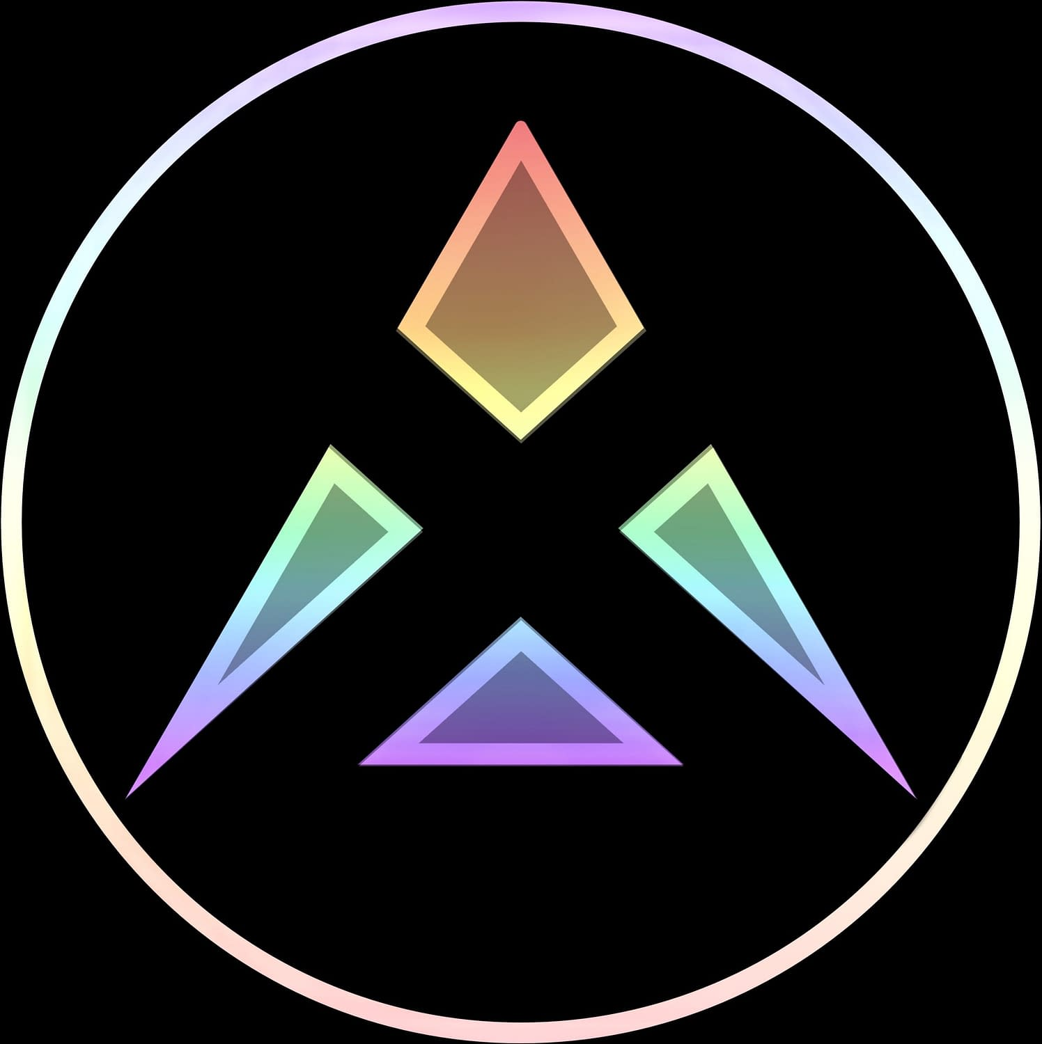 Vallax logo in badge style - Graphics - Alternate rendition of my logo as a metallic angular badge with a bright outer bezel.