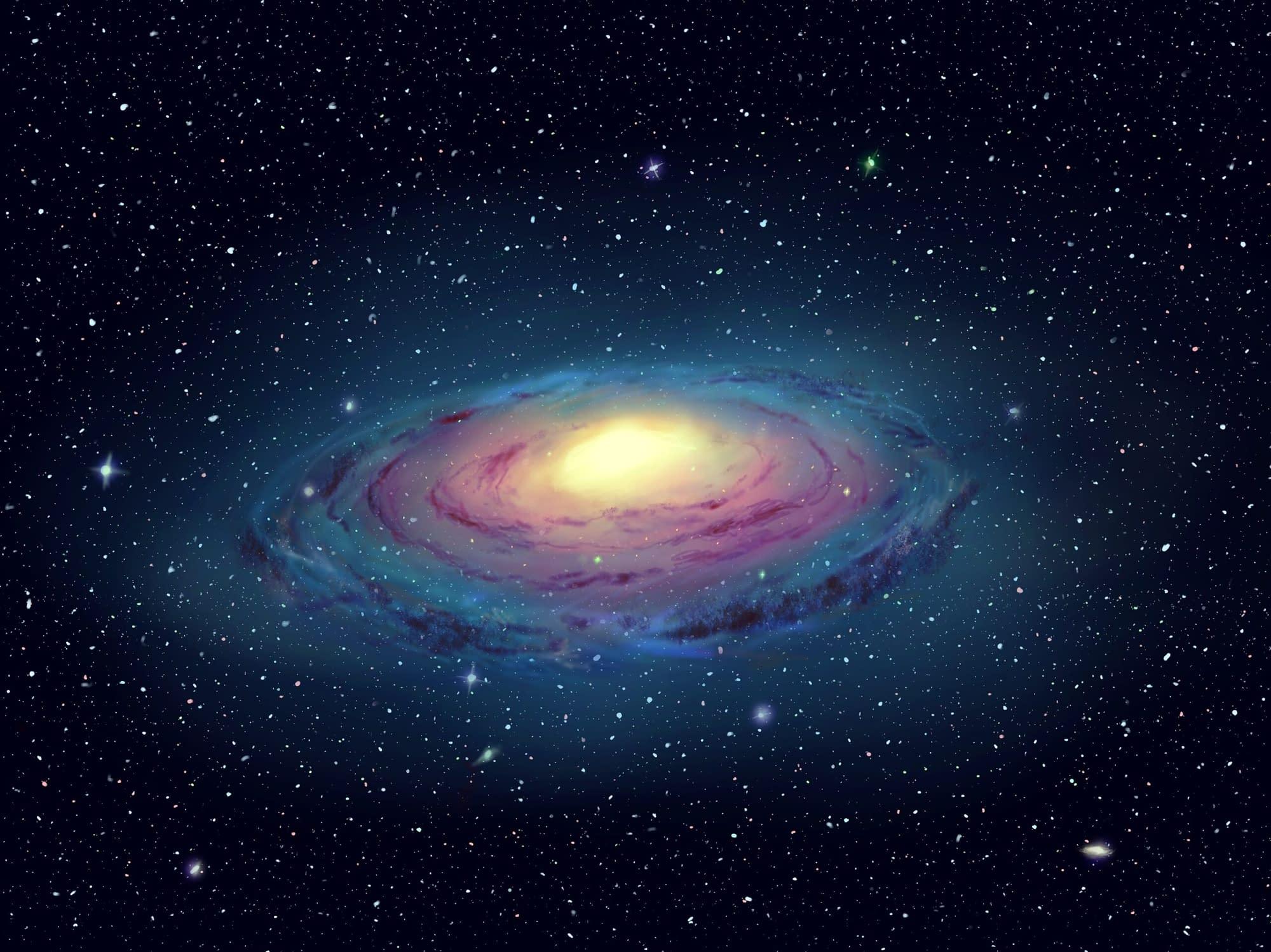 Galaxy design - Artwork - Digital artwork of a brightly-lit galaxy